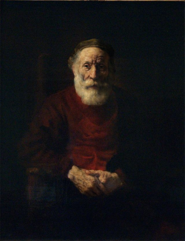 """Portrait of an old man in red"", Rembrandt Harmensz van Rijn"